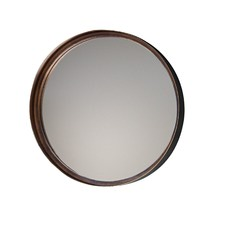 Reading Round Metal Mirror