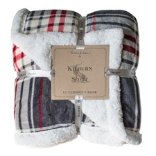 Chequered Sherpa Throw
