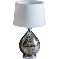 Lumley Smoked Glass Table Lamp
