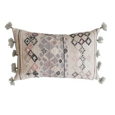 Nila Embroidered Cotton Cushion