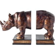 Raynard Rhinoceros Bookends