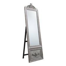 Silver Belvedere Vintage Style Floor Mirror