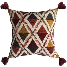 Picchu Embroidered Cotton Cushion
