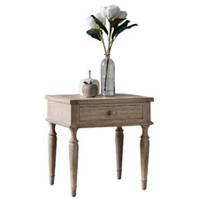 Sheffield 1 Drawer Ash Wood Side Table