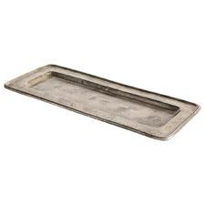 Silver Tesha Rectangular Tray