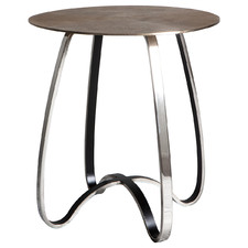 Gold Carmel Metal Side Table