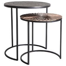 2 Piece Philomena Metal Side Table Set
