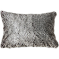 Aran Faux  Fur Rectangular Cushion