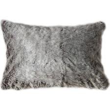 Faux Alaskan Wolf Rectangular Cushion