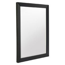 Black Byers Bevelled Wall Mirror