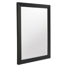 Black Luna Bevelled Wall Mirror