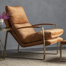 Fagan Suede Leather Lounger