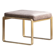 Fagan Suede Leather Footstool