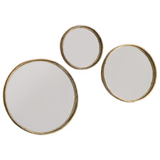 3 Piece Rico Round Wall Mirror Set