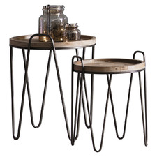 2 Piece Copperfield Tray Top Side Table Set