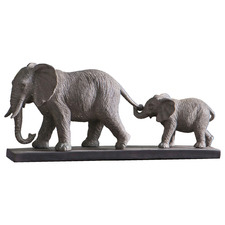 Sharga Elephant Plaque Decor