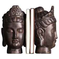 Bronze Maene Buddha Bookends