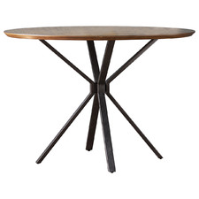 Barnes Round Oak Veneer Dining Table