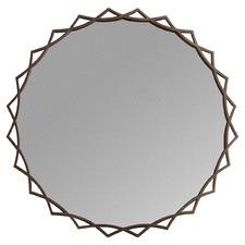 Novia Round Metal Wall Mirror