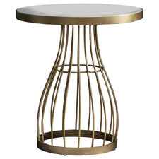 Guthrie Metal & Marble Side Table