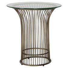 Bronze Zepplin Metal Side Table