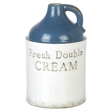 Blue Double Cream Ceramic Vase