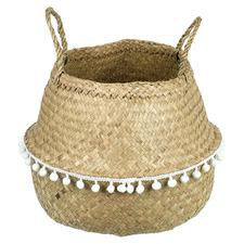 Pom Pom Seagrass Basket