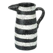 Black & White Kernow Decorative Terracotta Jug