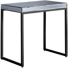 Perry Luxe Metal & Glass Side Table