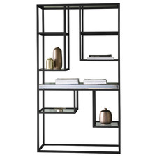 Perry Luxe Metal & Glass Display Unit