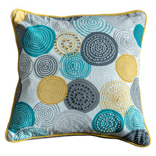 Printed Circles Orb Cotton Cushion