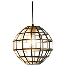 Gold Matteo Glass & Metal Pendant Lamp