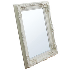 Carved Lawrence Mirror in Matt Cream