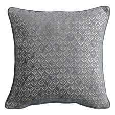 Metallic Grey Zellic Velvet Cushion