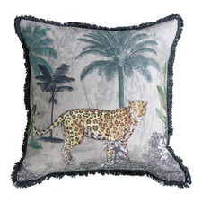 Leopard Gaze Cotton Cushion