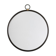 Adriana Round Metal Wall Mirror