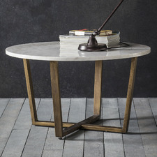 Linley Round Marble Coffee Table