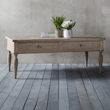 Sheffield 2 Drawer Ash Wood Coffee Table