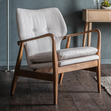 Marlene Ash Wood Armchair