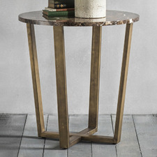 Nala Round Marble Side Table