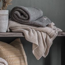Grey Chantal Chunky Knit Throw