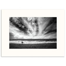 The Lonely Surfer Photographic Art Print