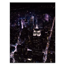 NYC by Night Canvas Wall Art