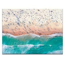 Crowded Beach Printed Wall Art
