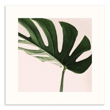 Large Single Tropical Leaf 2 Printed Wall Art