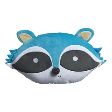 Aqua Racoon Head Shape Cushion