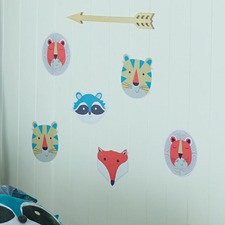 Funny Faces Removable Wall Stickers (Set of 6)