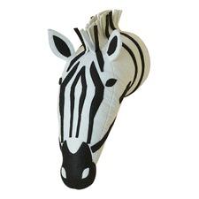 Zebra Head 3D Felt Wall Hanging