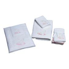 Baby Swan Towel & Washer in Organza Bag
