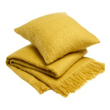 Mustard Acrylic Throw Rug